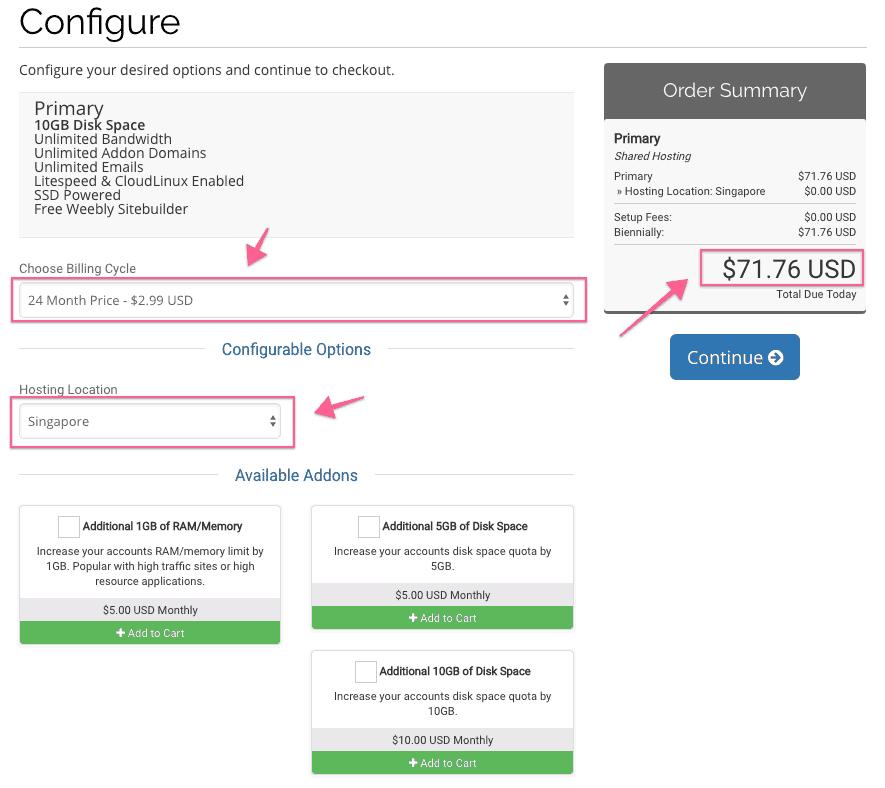 Thanh toán hosting