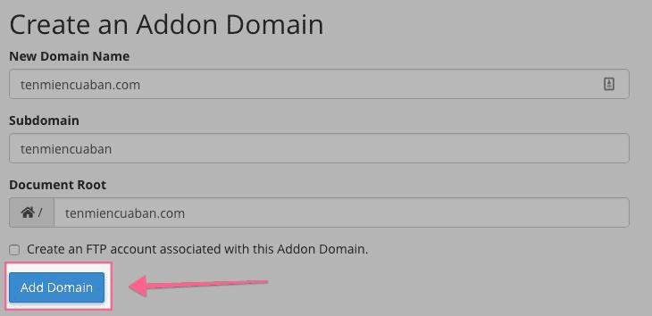 hoàn thành thêm tên miền