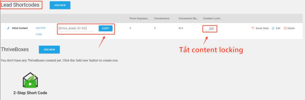 Tao Inline Content Form